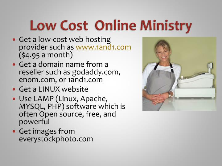 Low Cost  Online Ministry