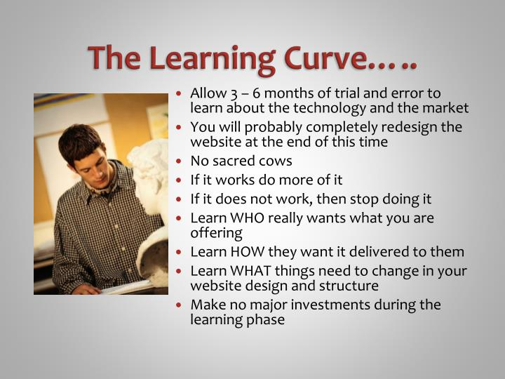 The Learning Curve…..