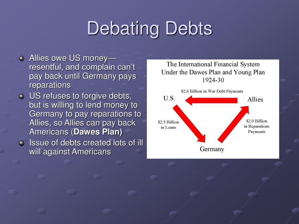 Debating Debts