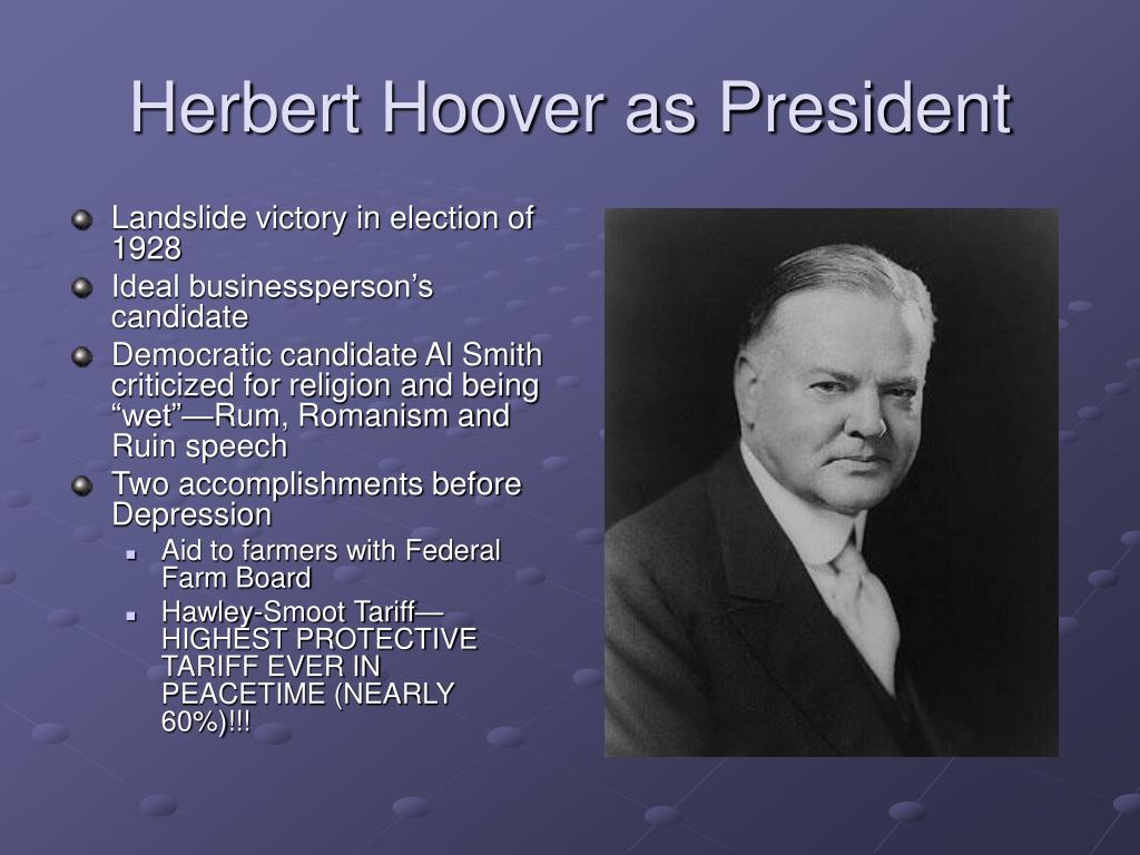 Herbert Hoover as President