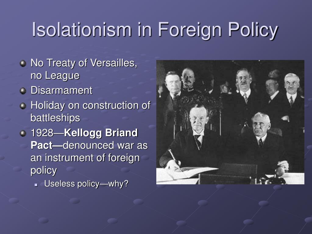 Isolationism in Foreign Policy