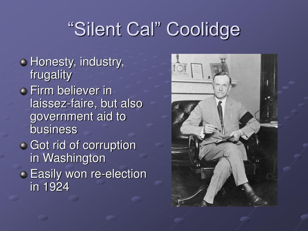 """Silent Cal"" Coolidge"