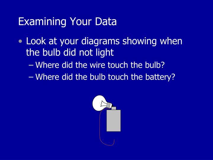 Examining Your Data