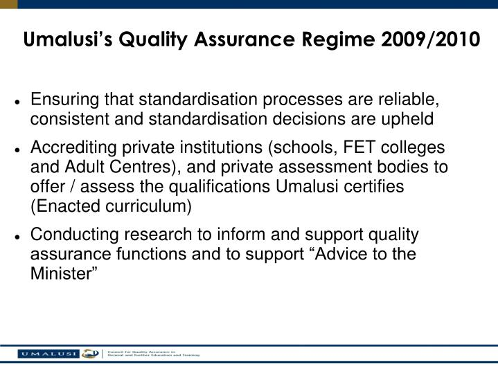 Ensuring that standardisation processes are reliable, consistent and standardisation decisions are upheld