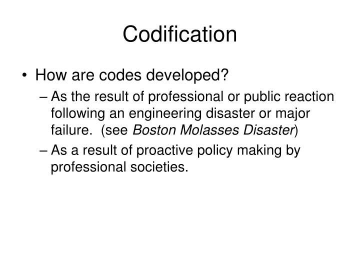 Codification