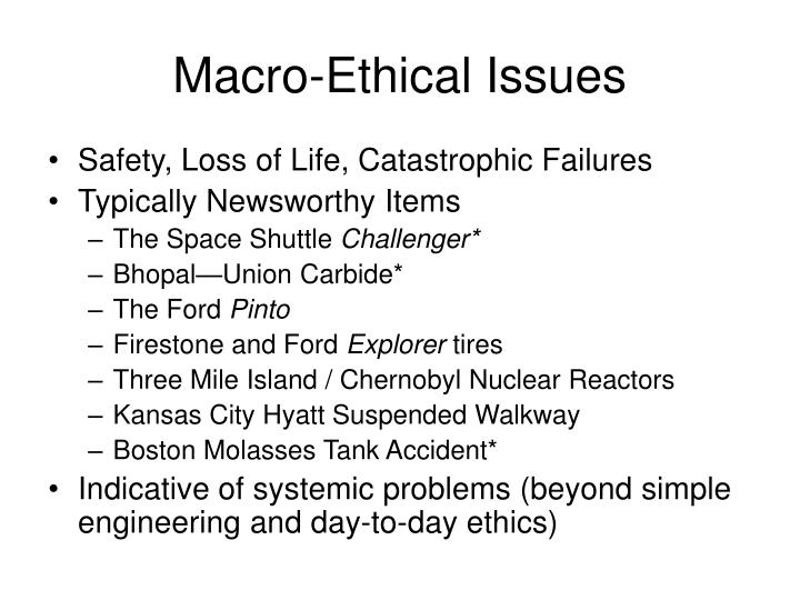 Macro-Ethical Issues
