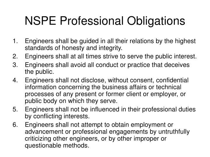 NSPE Professional Obligations