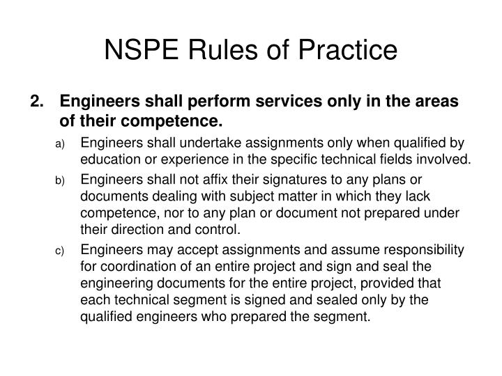 NSPE Rules of Practice