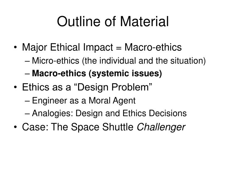Outline of Material
