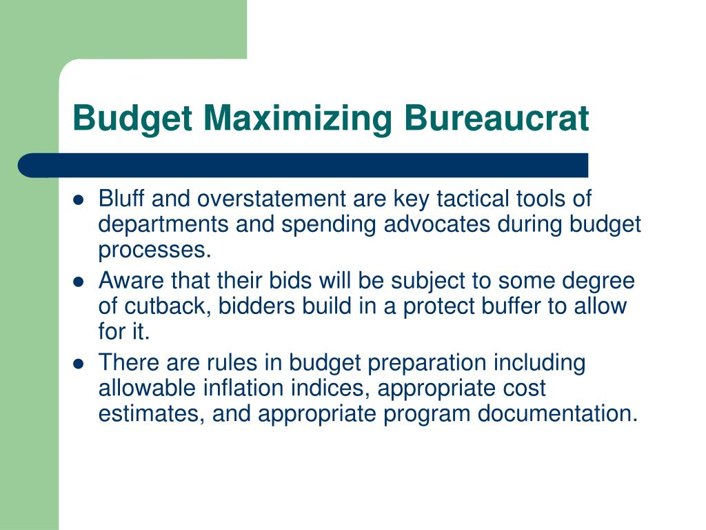 Budget Maximizing Bureaucrat
