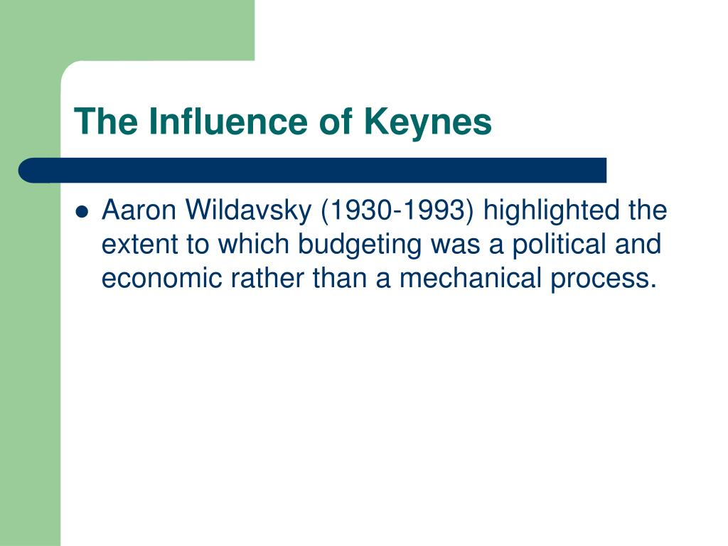The Influence of Keynes