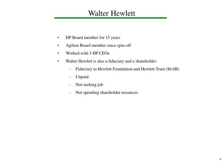 Walter Hewlett