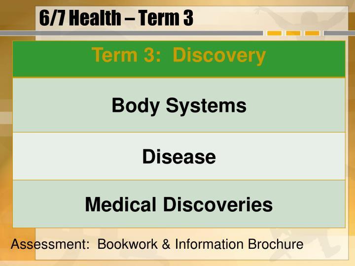 6/7 Health – Term 3