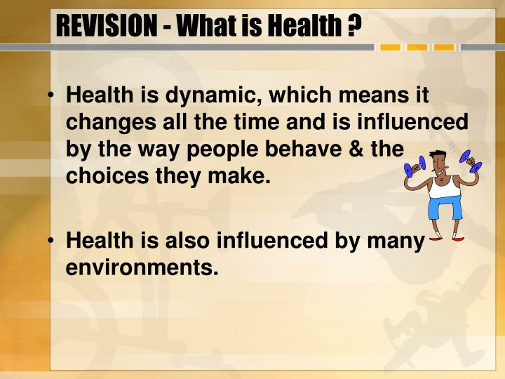 Revision what is health