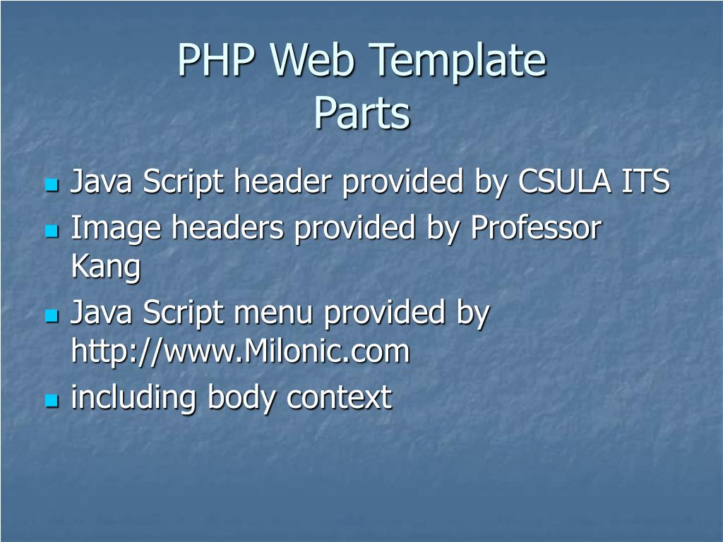 PHP Web Template