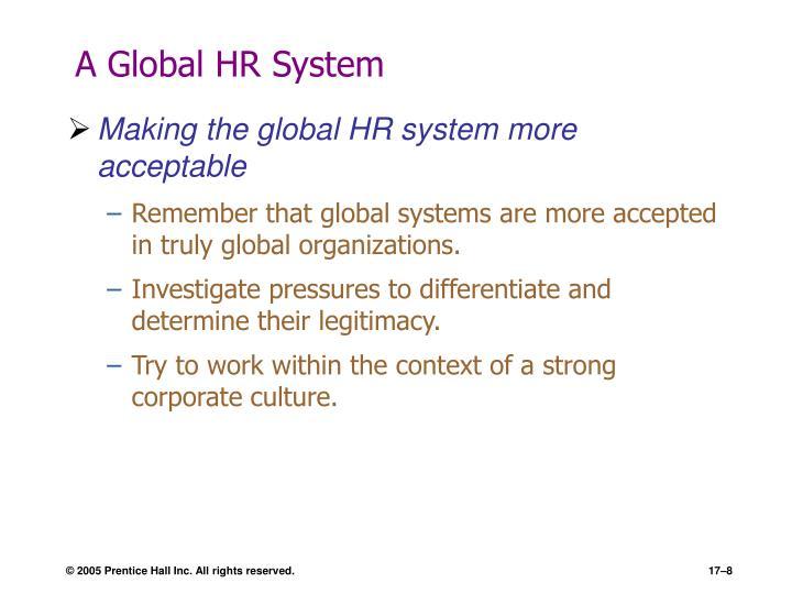 A Global HR System
