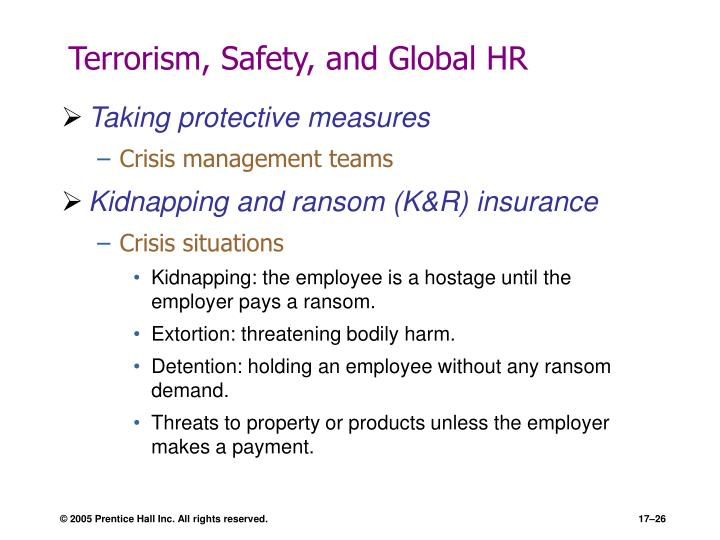 Terrorism, Safety, and Global HR