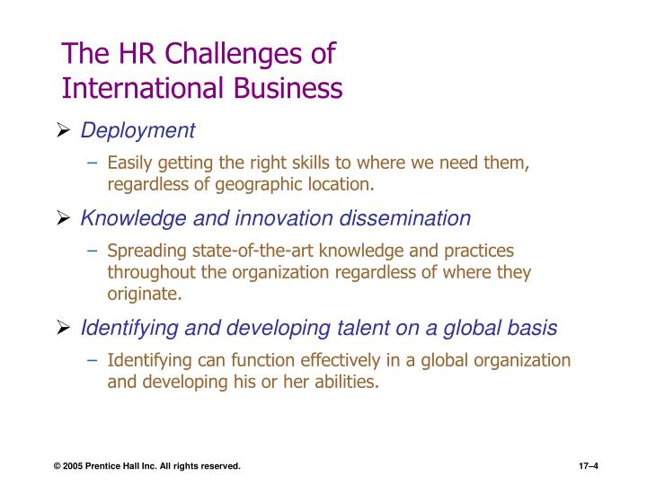 The HR Challenges of