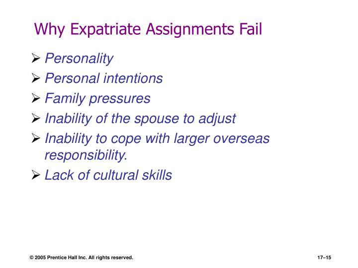 Why Expatriate Assignments Fail