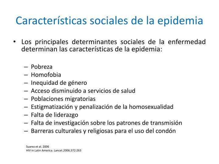 Características sociales de la epidemia