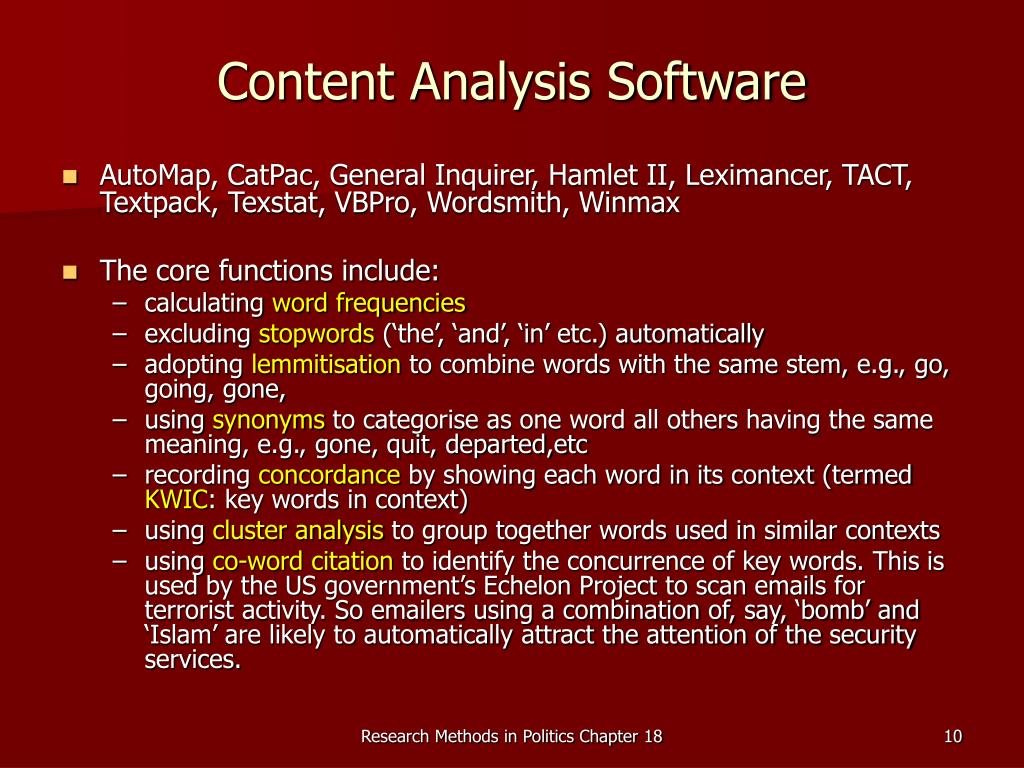 Content Analysis Software
