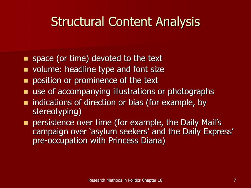 Structural Content Analysis