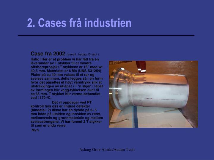 2. Cases frå industrien
