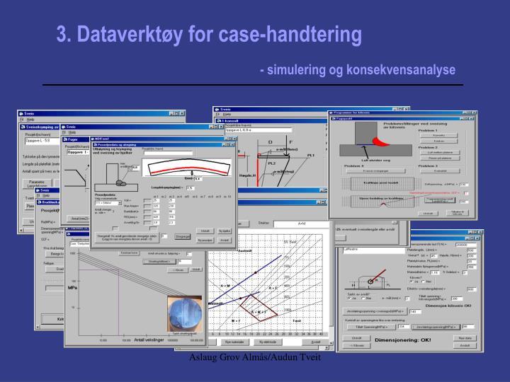 3. Dataverktøy for case-handtering