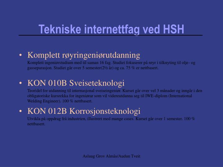 Tekniske internettfag ved HSH