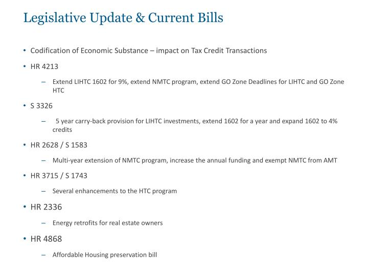 Legislative Update & Current Bills