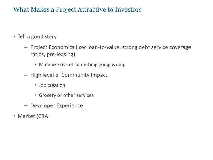 What Makes a Project Attractive to Investors