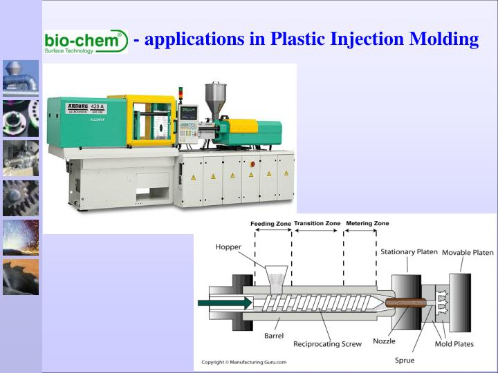 Applications in plastic injection molding