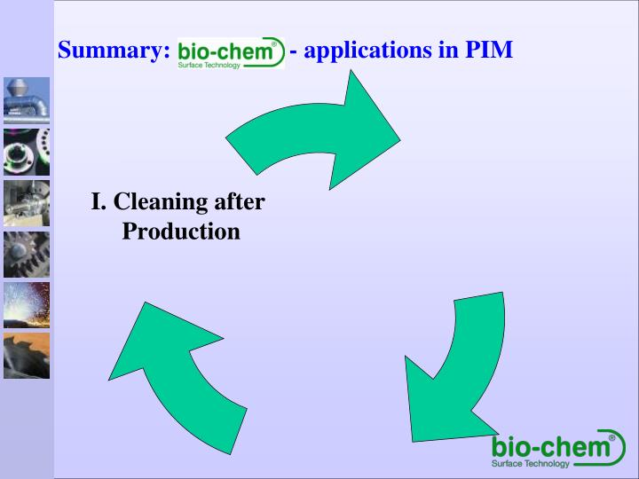 Summary:                   - applications in PIM