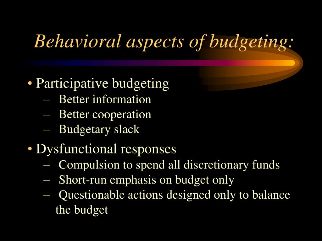 fixed budgets and dysfunctional behaviour Abb works backwards from activities and their drivers to the underlying costs traditional budgeting relies on functional-based line items (salaries, supplies, etc) flexible budget uses cost behavior to split functional-based line items into fixed and variable activity-based budgets activity-based budgets activity-based budgets steps to.