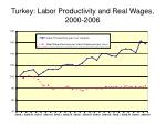 turkey labor productivity and real wages 2000 2006