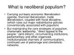 what is neoliberal populism