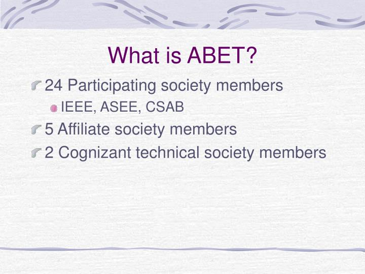 What is ABET?