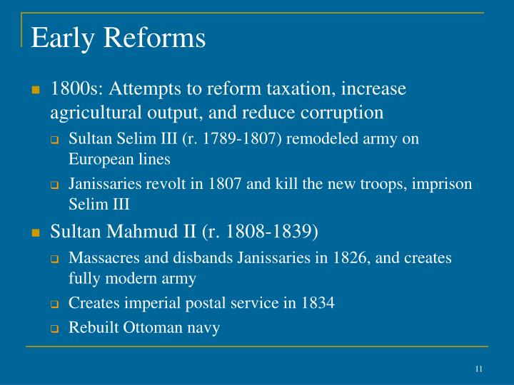 Early Reforms