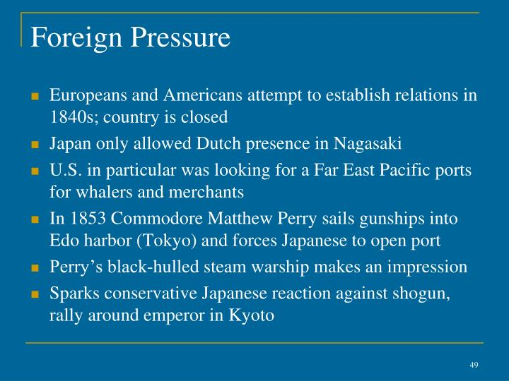 Foreign Pressure
