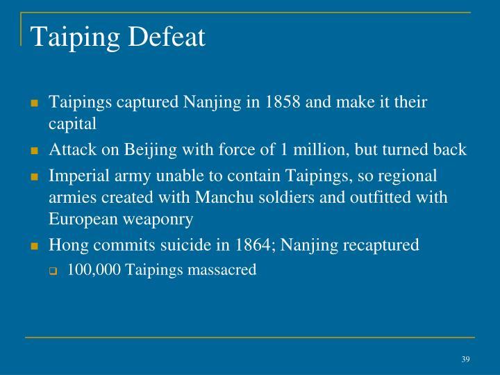 Taiping Defeat