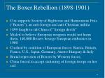 the boxer rebellion 1898 1901