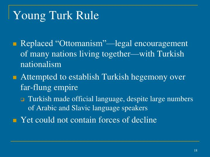 Young Turk Rule