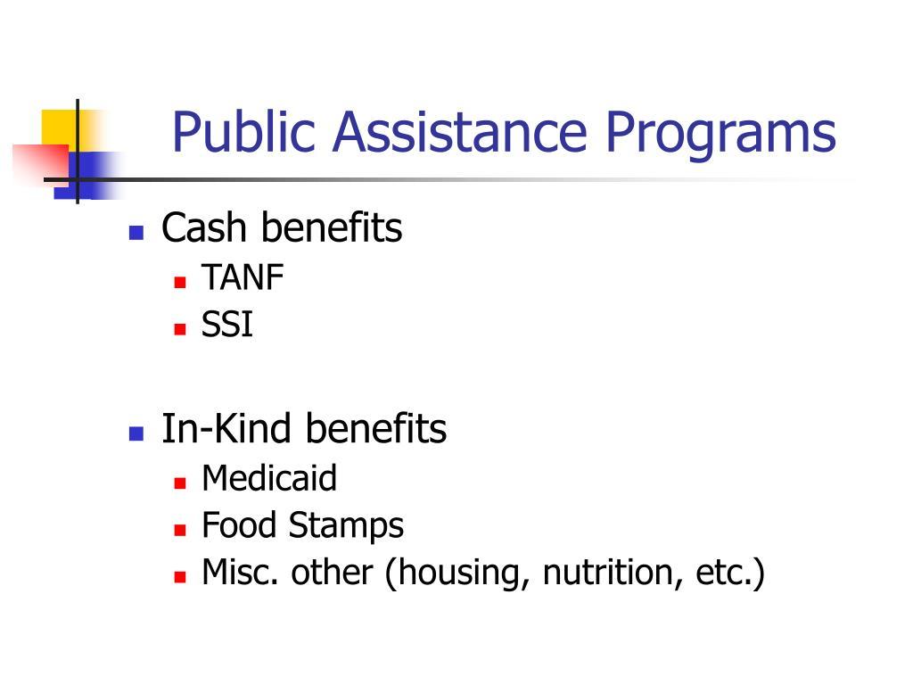 Public Assistance Programs