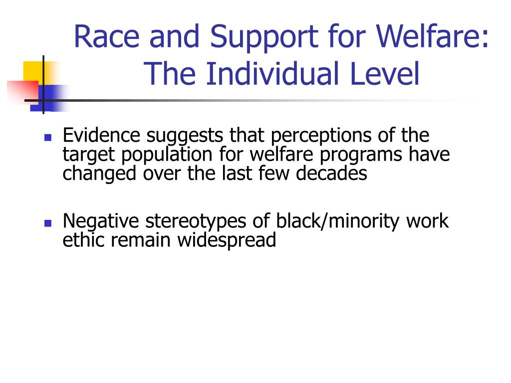 Race and Support for Welfare: