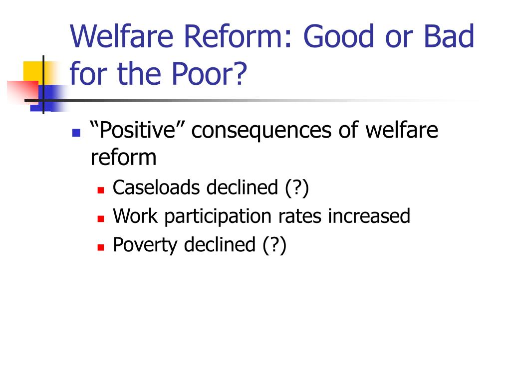 Welfare Reform: Good or Bad for the Poor?