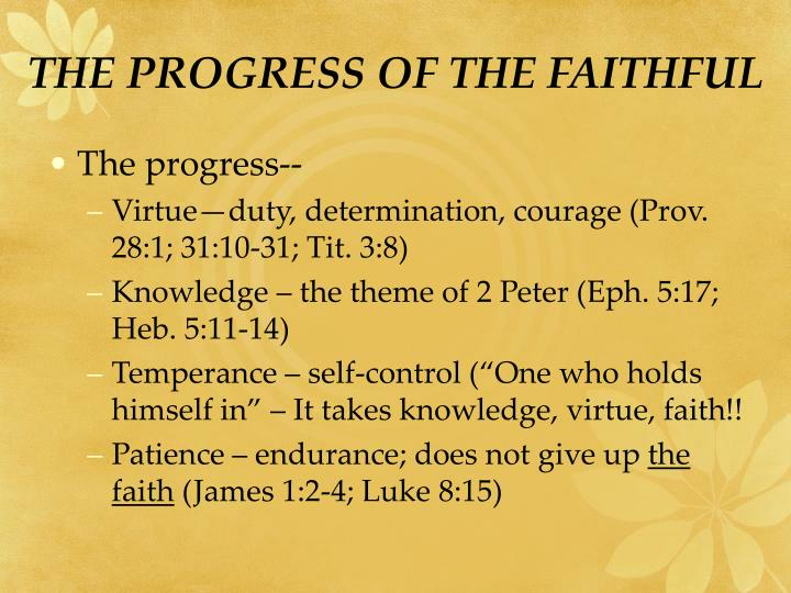 THE PROGRESS OF THE FAITHFUL