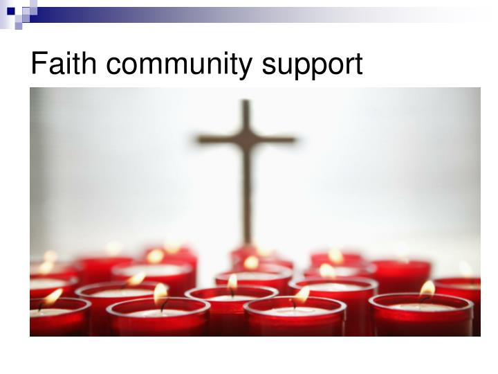 Faith community support