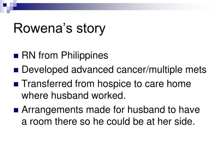 Rowena's story