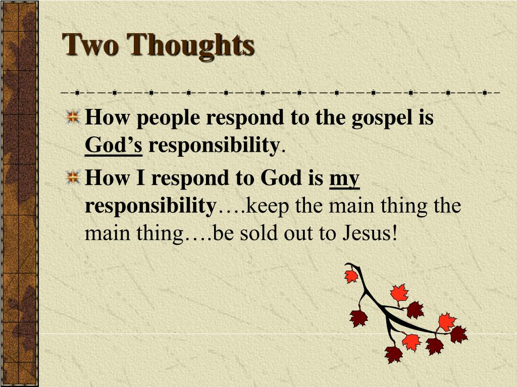 Two Thoughts