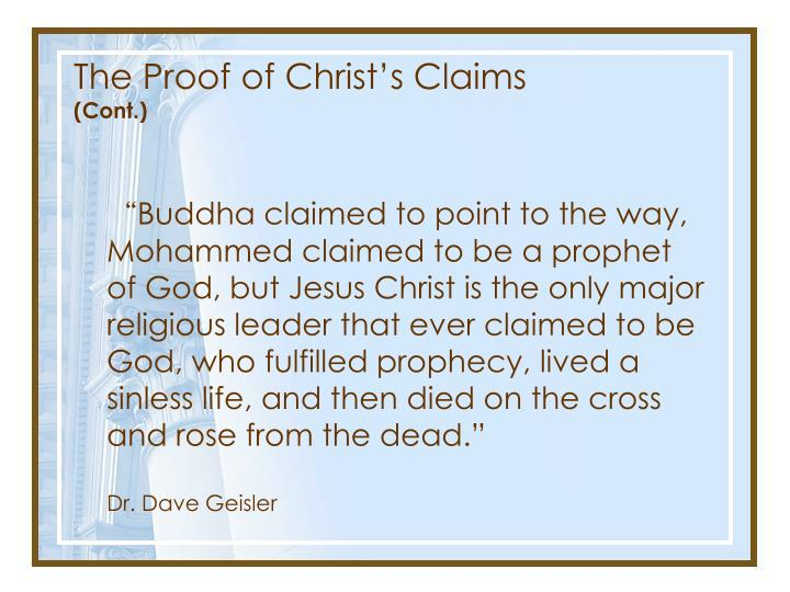 The Proof of Christ's Claims